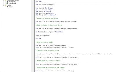Lección 23: Enviar automáticamente emails con macros (Lotus).